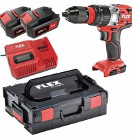 Flex PD 2G 18 EC Cordless Percussion Drill with 2 X 5AH Batteries and Charger